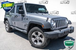 Used 2016 Jeep Wrangler Unlimited Sport DUAL TOP GROUP!!! 6 SPEED MANUAL!!! TINTED WINDOWS!!! for sale in Barrie, ON