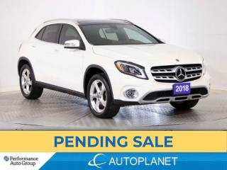 Used 2018 Mercedes-Benz GLA 250 4MATIC, Premium Pkg, Pano Roof, Back Up Cam! for sale in Brampton, ON