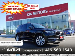 Used 2019 Volvo XC90 T6 MOMENTUM | 7 PASS | LTHR| PANO ROOF | NAV | 55K for sale in Georgetown, ON