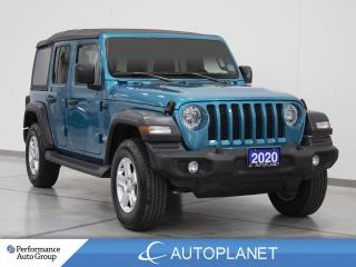 Used 2020 Jeep Wrangler Unlimited Sport 4x4, Turbo, Soft Top, Tech/Cold Weather Grp! for sale in Clarington, ON