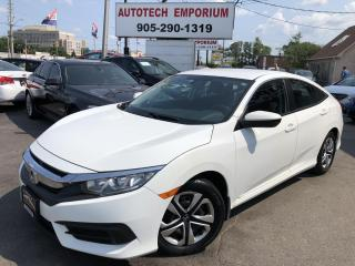 Used 2016 Honda Civic LX Prl White Navigation/Camera/Bluetooth/Heated Seats for sale in Mississauga, ON