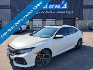 Used 2018 Honda Civic Hatchback Touring - Manual, Navigation, Leather, Sunroof, Heated Seats, Lane Departure Warning & More! for sale in Guelph, ON