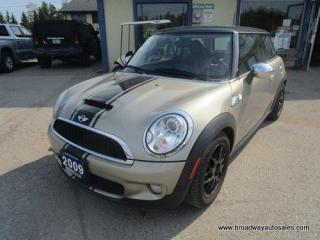 Used 2009 MINI Cooper S 6-SPEED MANUAL S-TYPE-PACKAGE 4 PASSENGER 1.6L - TURBO.. LEATHER.. HEATED SEATS.. DUAL SUNROOF.. SPORT-MODE-PACKAGE.. KEYLESS ENTRY.. for sale in Bradford, ON