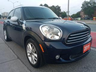Used 2011 MINI Cooper Countryman ONLY 127K-LEATHER-SUN MOON ROOF-BLUETOOTH-AUX-USB for sale in Scarborough, ON