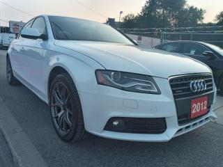 Used 2012 Audi A4 2.0T Premium-AWD-LEATHER-SUNROOF-BLUETOOTH-ALLOYS for sale in Scarborough, ON