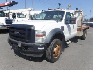 Used 2009 Ford F-550 Flat Deck 12 foot SuperCab 4WD Dually Diesel With Crane for sale in Burnaby, BC
