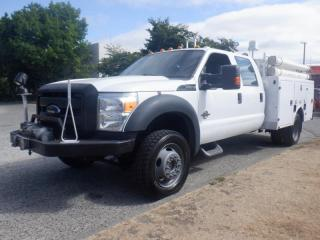Used 2013 Ford F-450 SD Crew Cab Dually 4WD Service Truck Diesel With Winch for sale in Burnaby, BC