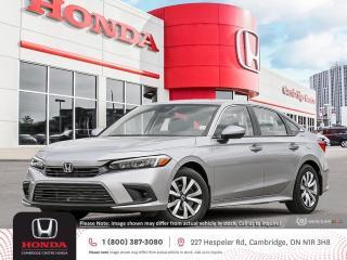 New 2022 Honda Civic LX APPLE CARPLAY™ & ANDROID AUTO™ | HONDA SENSING TECHNOLOGIES | REARVIEW CAMERA for sale in Cambridge, ON