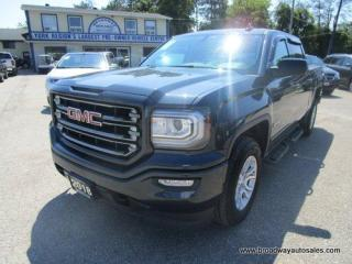 Used 2018 GMC Sierra 1500 LOADED SLT-ALL-TERRAIN MODEL 5 PASSENGER 5.3L - V8.. 4X4.. CREW-CAB.. SHORTY.. NAVIGATION.. LEATHER.. HEATED SEATS.. POWER PEDALS.. BACK-UP CAMERA.. for sale in Bradford, ON