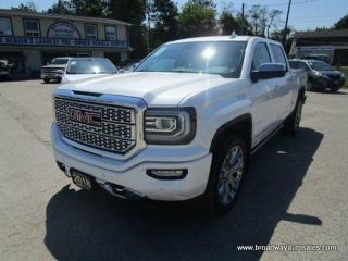 Used 2018 GMC Sierra 1500 LOADED DENALI-EDITION 5 PASSENGER 6.2L - V8.. 4X4.. CREW-CAB.. SHORTY.. NAVIGATION.. LEATHER.. HEATED/AC SEATS.. BACK-UP CAMERA.. SUNROOF.. DVD.. for sale in Bradford, ON