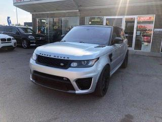 Used 2016 Land Rover Range Rover Sport V8 SUPERCHARGED SVR RED INTERIOR for sale in Calgary, AB