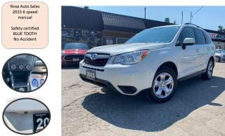 Used 2015 Subaru Forester 5dr AWD 4X4 SUV 6 SPEED Man 2.5i SAFETY NO ACCIDEN for sale in Oakville, ON