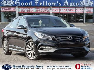 Used 2015 Hyundai Sonata SPORT, LEATHER & CLOTH SEATS, BLIND SPOT, PANROOF for sale in Toronto, ON
