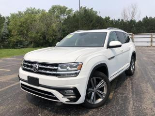 Used 2018 VW ATLAS EXECLINE R-LINE 4MOTION AWD for sale in Cayuga, ON