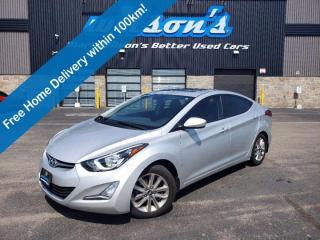 Used 2016 Hyundai Elantra Sport- Sunroof, Reverse Camera, Bluetooth, Keyless Entry, Alloy Wheels and More! for sale in Guelph, ON