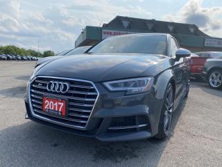Used 2017 Audi S3 2.0T Progressiv CERTIFIED | QUATTRO | LEATHER | NAVI | REVERSE CAM | for sale in Bolton, ON
