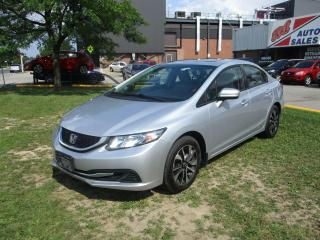 Used 2014 Honda Civic EX ~ REAR/SIDE CAM ~ SUNROOF ~ PUSH START ~ ALLOYS for sale in Toronto, ON