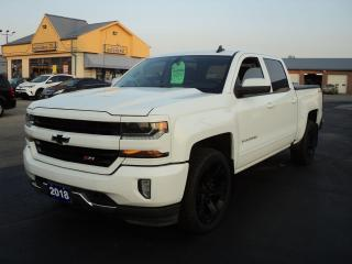 Used 2018 Chevrolet Silverado 1500 LT CrewCab 4x4 Z71 5.3L 5.5ft Box Leather Heated for sale in Brantford, ON