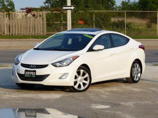 Used 2013 Hyundai Elantra LIMITED,LEATHER,CERTIFIED,LOW KMS,SUNROOF,LOADED for sale in Mississauga, ON