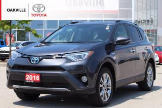 Used 2016 Toyota RAV4 Hybrid Limited AWD with Leather Seats and Navigation for sale in Oakville, ON
