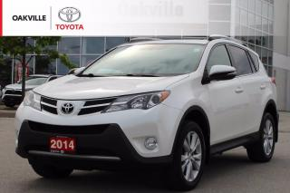 Used 2014 Toyota RAV4 Limited AWD with Low Kilometers and Clean Carfax for sale in Oakville, ON
