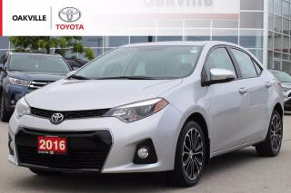 Used 2016 Toyota Corolla S with Leather Seats and Power Moonroof for sale in Oakville, ON