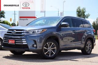 Used 2017 Toyota Highlander XLE AWD, LEATHER HEATED SEATS, SUNROOF, LANE KEEP / BRAKE ASSIST, NAVIGATION, NEW TIRES & BRAKES. for sale in Orangeville, ON