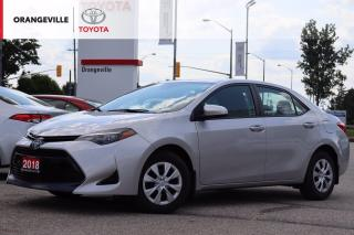 Used 2018 Toyota Corolla CE, LANE KEEP/BRAKE ASSIST, BLUETOOTH, BACK-UP CAMERA, ADAPTIVE CRUISE CONTROL. for sale in Orangeville, ON