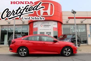 Used 2019 Honda Civic Sedan LX - HONDA CERTIFIED - RATES STARTING @ 3.69% - for sale in Sudbury, ON