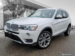 Used 2017 BMW X3 xDrive28i Enhanced! Leather! Local! for sale in Winnipeg, MB