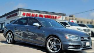 Used 2015 Audi S4 Premium 4dr Sdn Auto Technik Amazing Performance, Superchargered 3.0L, Red/Black Leather Interior, Sunroof for sale in Oakville, ON