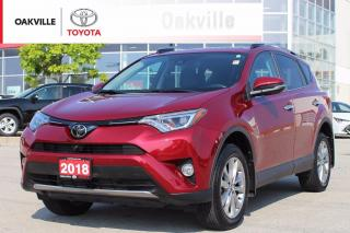 Used 2018 Toyota RAV4 Limited AWD with New Front Brakes and Low Kilometers for sale in Oakville, ON