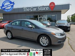 Used 2012 Honda Civic EX Local, NO ACCIDENTS, Remote Starter, Sunroof for sale in Winnipeg, MB