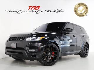 Used 2017 Land Rover Range Rover Sport V6 HSE DYNAMIC I 22 IN WHEELS I RED LTHR I NAVI for sale in Vaughan, ON