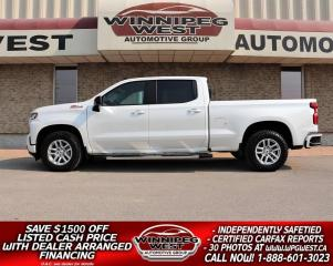 Used 2019 Chevrolet Silverado 1500 RST Z71 CREW 5.3L 4X4, LEATHER, LOADED, SHARP!! for sale in Headingley, MB