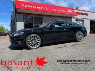 Used 2018 Audi A5 Coupe Progressiv, Leather, Nav, Backup Cam, Heated Seats for sale in Surrey, BC