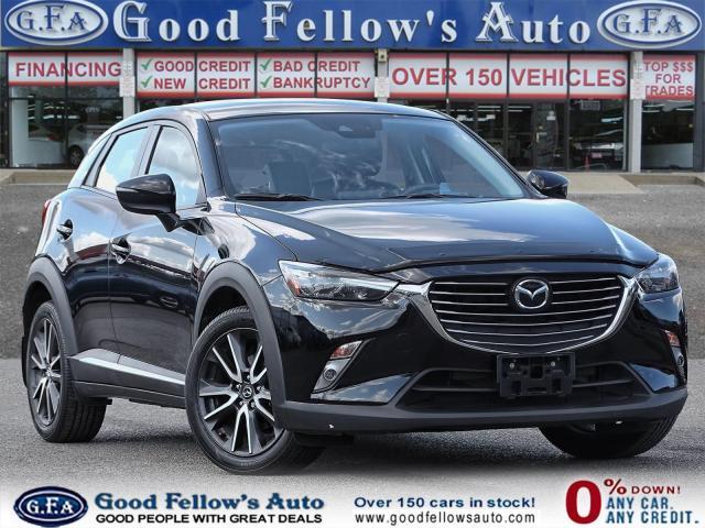2018 Mazda CX-3 GT SKYACTIV, AWD, LEATHER SEATS, SUNROOF, NAVI