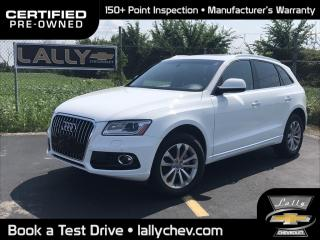 Used 2017 Audi Q5 2.0T Progressiv QUATTRO**AWD**LEATHER**PANORAMIC SUNROOF**HEATED S for sale in Tilbury, ON