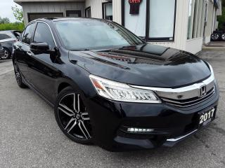 Used 2017 Honda Accord TOURING - LEATHER! NAV! BACK-UP/BLIND-SPOT CAM! SUNROOF! for sale in Kitchener, ON