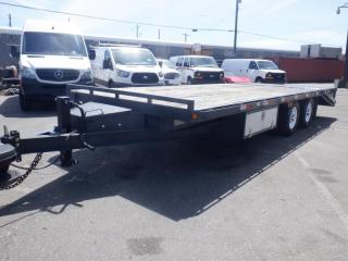 Used 2018 Precision Tra/rem Bf22b-7k 16 Foot Flat Deck Trailer With Ramp for sale in Burnaby, BC