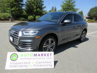 Used 2018 Audi Q5 S-LINE, TECHNIK, AWD, INSPECTED, WARRANTY, FINANCING, BCAA MEMBERSHIP! for sale in Surrey, BC