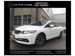 Used 2014 Honda Civic Touring - AUTO, LEATHER, SUNROOF, BACK-UP CAMERA!! for sale in Orleans, ON