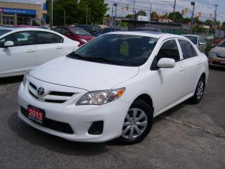 Used 2013 Toyota Corolla CE+,AUTO,A/C,SUNROOF,CERTIFIED,BLUETOOTH,TINTED for sale in Kitchener, ON