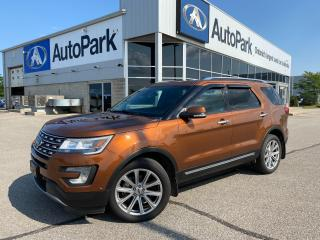 Used 2017 Ford Explorer Limited   HEATED & COOLED LEATHER SEATS   HEATED STEERING WHEEL   APPLE CARPLAY & ANDROID AUTO   REAR CAMERA for sale in Innisfil, ON
