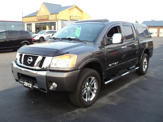 "2012 Nissan Titan SL CrewCab 4x4 5.6L 5.5""Box MoonRoofLeatherHeated"