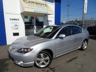 Used 2006 Mazda MAZDA3 GT Sedan, Automatic, Sunroof, Only 118,486 Kms! for sale in Langley, BC