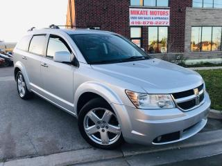 Used 2010 Dodge Journey R/T~Power Heated Leather Seats~B.T.~Clean CarFax! for sale in Rexdale, ON