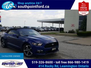 Used 2015 Ford Mustang V6 CONVERTIBLE|REMOTE START|CRUISE CONTROL for sale in Leamington, ON