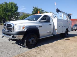Used 2008 Dodge Ram 5500 Service Truck Manual Transmission  4WD Diesel With Crane for sale in Burnaby, BC