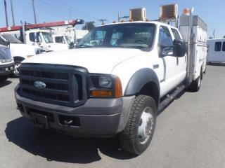 Used 2006 Ford F-550 XL Crew Cab 2WD Service Truck with Air Compressor Diesel for sale in Burnaby, BC